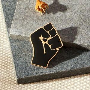 #BLM fist pin